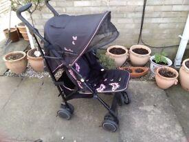Silver Cross pop butterflies pushchair with raincover