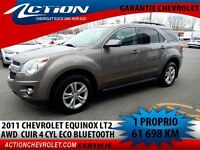 2011 Chevrolet Equinox AWD 2LT CUIR 4 CYL BLUETOOTH