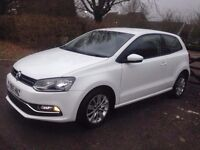 2015 VOLKSWAGEN POLO WHITE 1.2 TSI CAT C 20,000 MILES SUPERB CONDITION INSIDE AND OUT