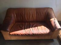 Free - 2 seater leather sofa