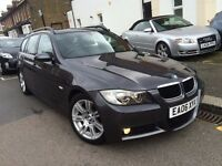 BMW 320D DIESEL M SPORT TOURING AUTOMATIC 2006 1 FORMER OWNER SAT NAV FULL LEATHER XENON TOP SPEC