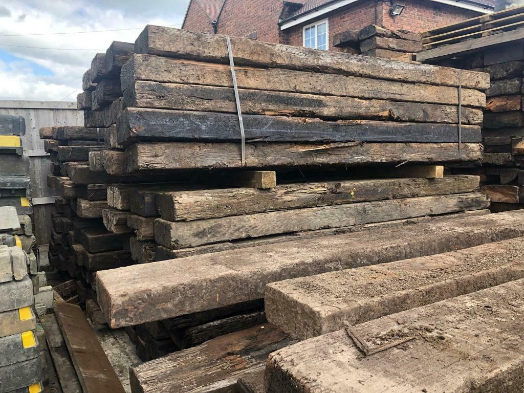 🌞 Wooden Reclaimed Railway Sleepers ~ Various Sizes | in ...