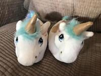 Unicorn slippers - unwanted present