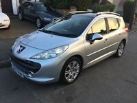 2007 PEUGEOT 207 SW SPORT- 1.6 HDI - PAN ROOF - SERVICE HISTORY -NEW CAM BELT!