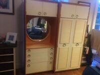 Schreiber Wardobe and Drawers with Vanity Mirror