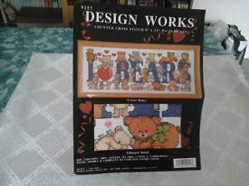 Cross Stitch Kit I Love Bears