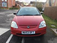 BARGAIN**HONDA CIVIC INSPIRE S 2003 53 PLATE, 100k, 3 DOOR HATCH BACK, 1.4 PETROL , 2 OWNERS