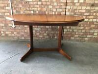Mid Century Teak Extending Dinning Table Vintage Retro