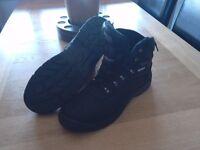 Steel toecap work boots.