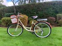 Stunning Beige Ladies Bicycle with Locks