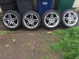 "Ford escort Fiesta focus puma 17"" wolfrace alloys"