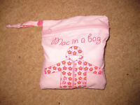 PINK Waterproof MAC IN A BAG - age 5-6 IMMACULATE CONDITION +FREE Skipping Rope! NOW REDUCED!