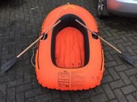 Child's inflatable rubber dingy