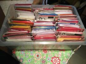 Box of over 300 brand new greeting cards (excess stock)