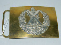 Waist belt buckle of The Cameron Highlanders by Hobson & sons of London Ltd. Guide