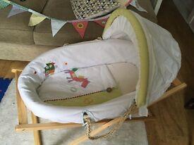 Mamas & Papas Gingerbread Moses Basket & Baby Bunting!