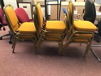 Stackable Mustard Chairs