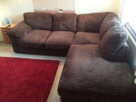 Cargo dark brown corner sofa
