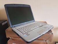 Acer Aspire 15 Inch laptop - Windows 7, Intel CPU 2Ghz, 160GB, DVDRW, Working battery