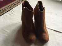 New look ladies wedge heels boots size 7/40 used one time £5