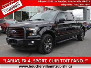 2016 Ford F-150 FX4*LARIAT, CUIR, SPORT, TOIT PANO*