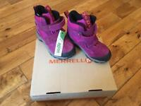 Girls Merrell walking boots