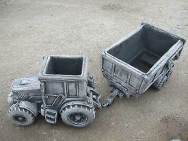 john deere stone tractor trailer
