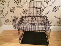 COLLAPSIBLE METAL PET CAGE/CRATE WITH 2 DOORS