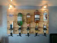 Handmade wooden drinks optics board (5 x 25ml)