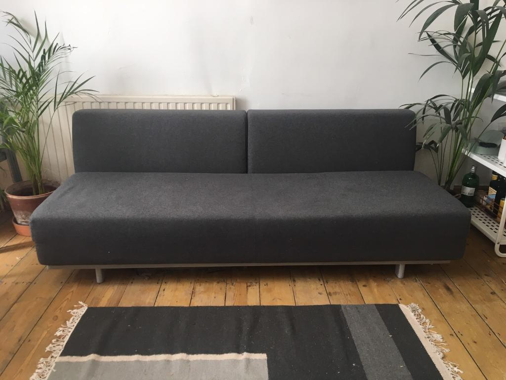 Sofa Bed Charcoal Grey Great Condition