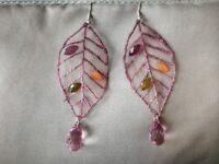 Pretty Purple Fabric Earrings
