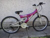 Girls Bikes to suit age 9 to 12 years old 24 inch wheels £45 EACH