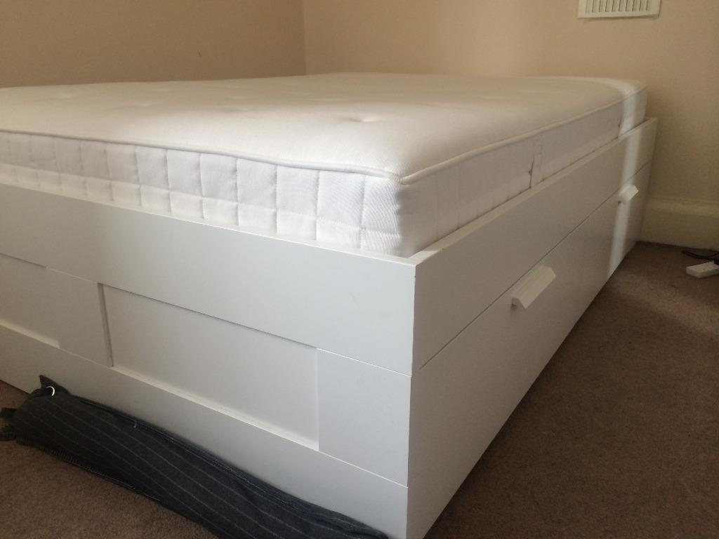 IKEA Brimnes Bed (with underbed storage)& mattress in Clifton Village, Bristol Gumtree