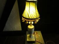 ITALIAN MARBLE OYNX & BRASS LAMP , very nice condition