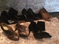 5 Pairs Of Heels size 5's pre Loved