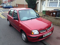 AUTOMATIC NISSAN MICRA 5 DOOR . LONG MOT . LOW MILEAGE . 1 LITER . SUPERB DRIVE . CHEAPEST IN UK