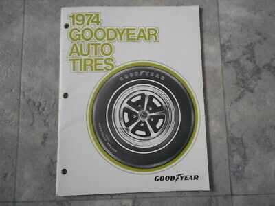 1974 GOODYEAR AUTO TIRES Dealer Sales Brochure Original Info Specs Guide Rare (Glasses Dealer Guide)