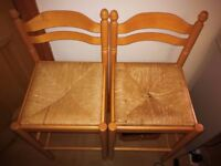 wooden highchair with Cane cushion