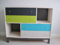 Multicolour chest of drawers