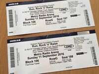 Run, Rock and Raise at Newcastle metro arena tickets X 2
