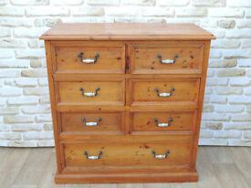 Large and Chunky Solid Heavy duty chest of drawers Unique (Delivery)