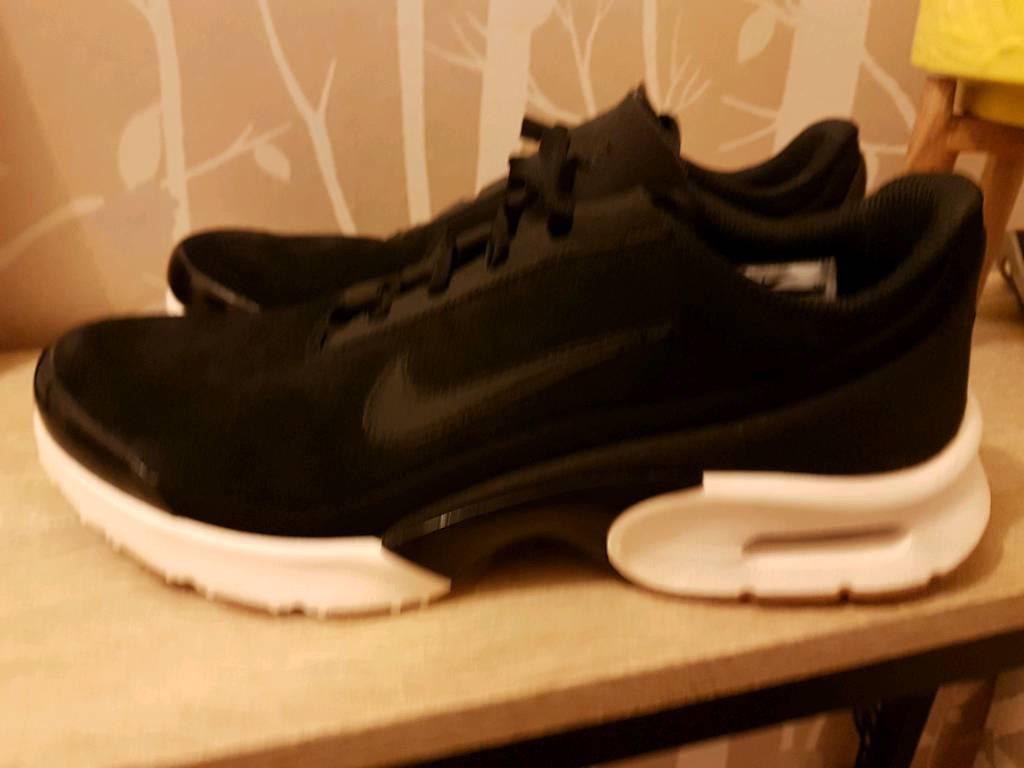 Nike genuine Max Ladies trainers Air velvet UK Noir in size 8 BqxXXHt