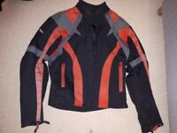 Motorcycle jacket/trousers and helmets
