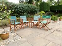 Garden Chairs hardwood frame and canvas.