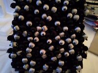 Black and Silver Beaded Trimming / Braiding / Curtain / Fabric