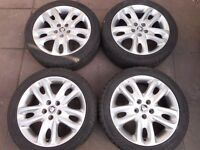 "JAGUAR 17"" ALLOY WHEELS WITH TYRES"
