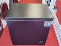 Ex-display LOGIK black chest freezer with 12 months warranty and delivery