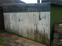 Corregated iron shed. 3m by 5m.