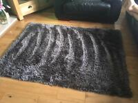 Charcoal indulgence thick pile rug from dunelm mill 170 x 120
