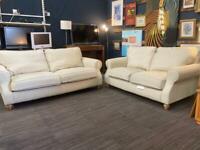 Beige fabric two piece sofa set